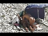Voyeur filmt geilen Ritt am Strand