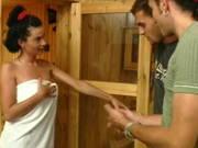 Nach der Sauna gibt es einen Fick